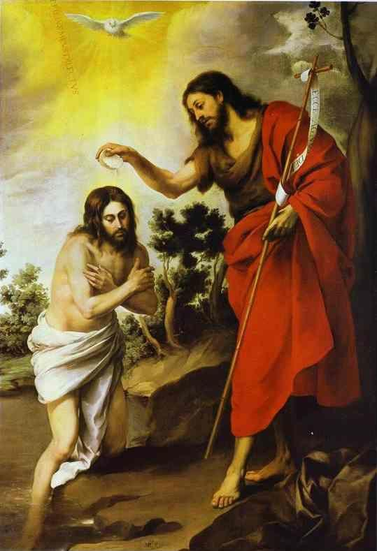 Bartolomé Esteban Murillo. The  Baptism of Christ.
