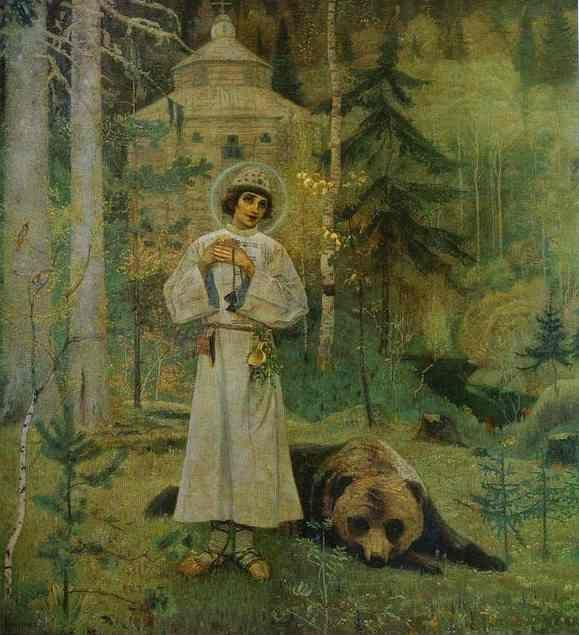 Mikhail Nesterov. Youth of Saint Sergiy Radonezhsky.