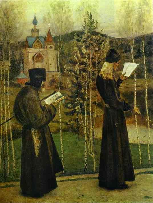 Mikhail Nesterov. On the Eve of Annunciation Feast.