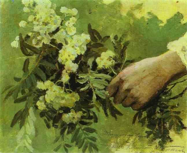 Mikhail Nesterov. A Hand with Flowers. Study for the painting On the Hills.