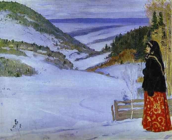 Mikhail Nesterov. Winter in Skit (skit is a small and secluded monastery).