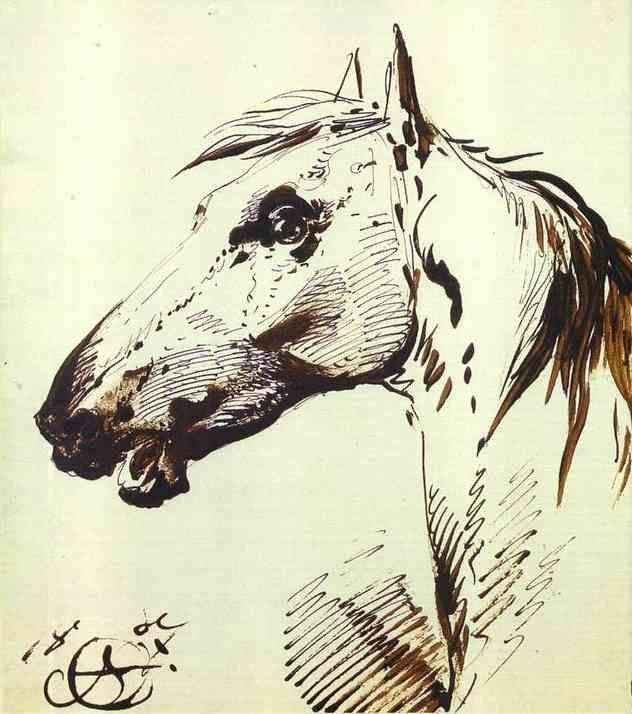 Alexander Orlowski. Head of a Horse.