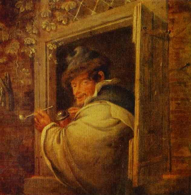 Adriaen van Ostade. A Man in the Window.
