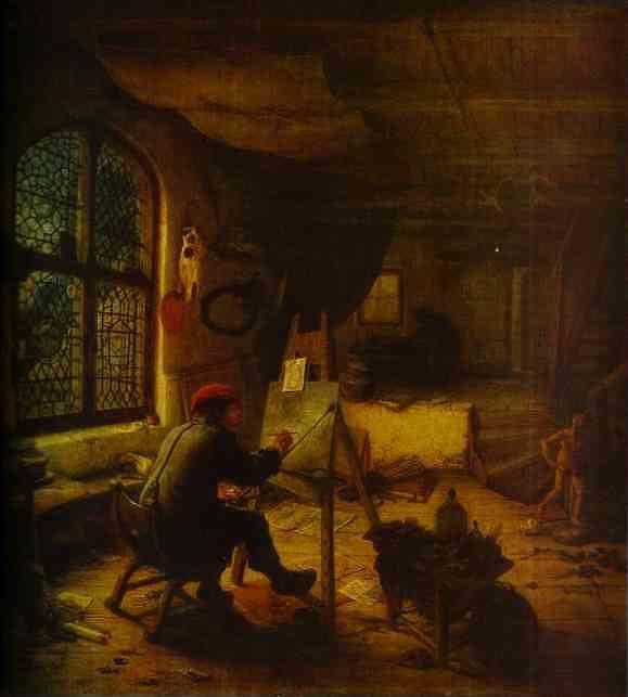 Adriaen Van Ostade The Artist In His Studio