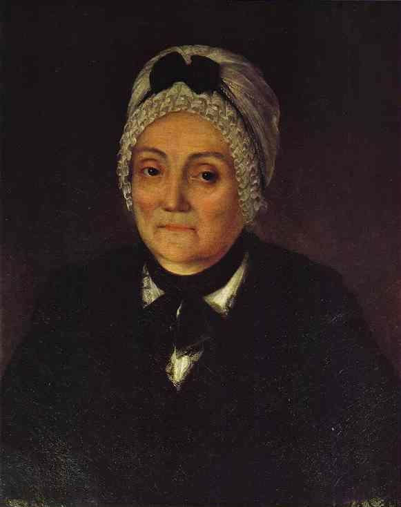 Grigory Ostrovsky. Portrait of Natalia Cherevina at the Age of 60.