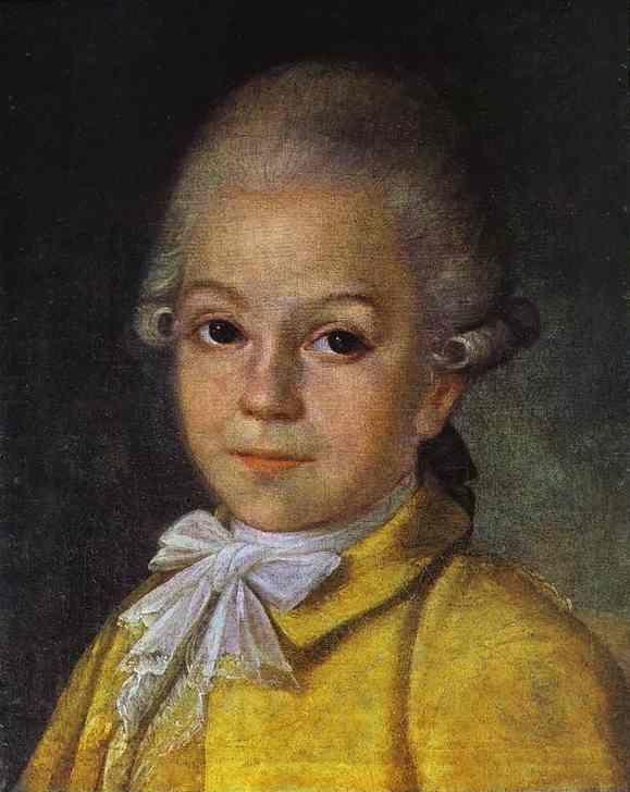 Grigory Ostrovsky. Portrait of Dmitry Cherevin at the Age of 6.