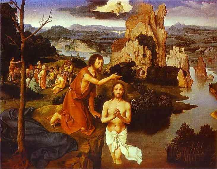 Joahim Patinir. The Baptism of Christ.
