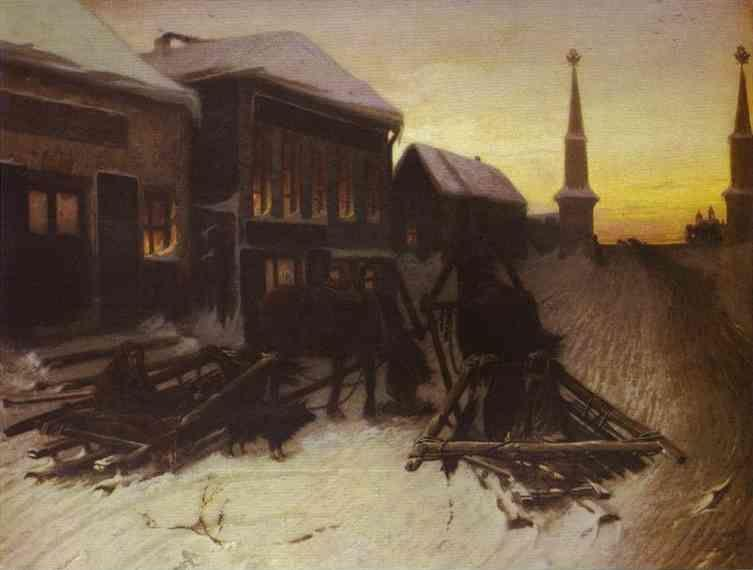 Vasily Perov. Last Tavern at Town Gate.