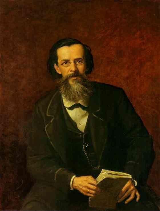 Vasily Perov. Portrait of the Poet Apollon  Maikov.