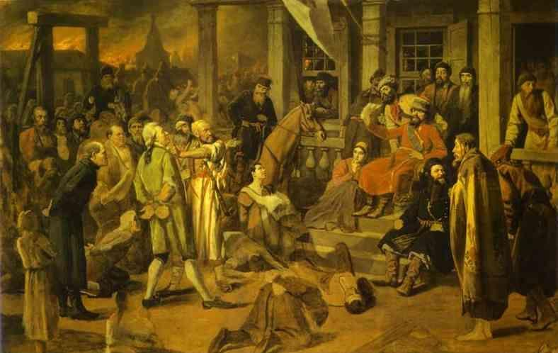 Vasily Perov. Pugachev's Judgment.