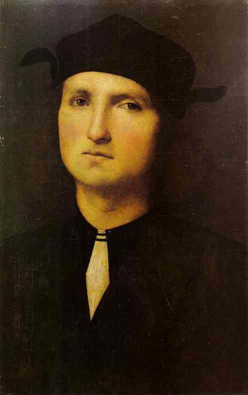 Pietro Perugino. Portrait of a Young  Man.
