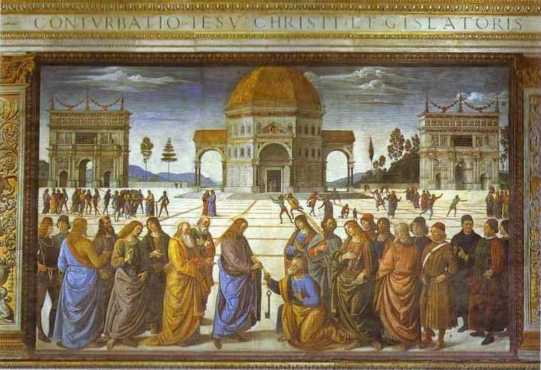 Pietro Perugino. The Delivery of the  Keys.