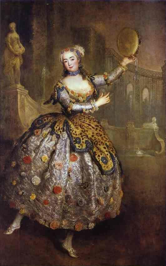 Antoine Pesne. The Dancer Barbara Campanini,  Called Barbarina.
