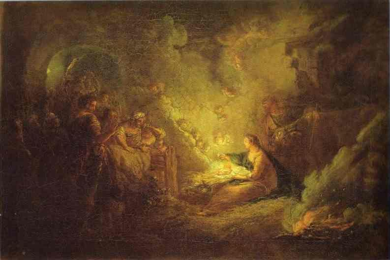 Antoine Pesne. Birth of Christ.