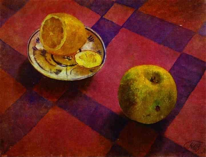 Kuzma Petrov-Vodkin. Apple and Lemon.