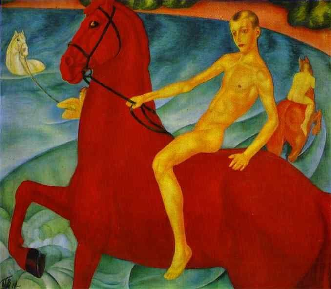 Kuzma Petrov-Vodkin. Bathing of a Red Horse.