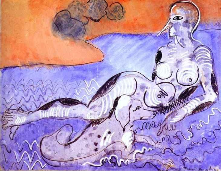 Francis Picabia. Woman with a Dog / Le femme  au chien.