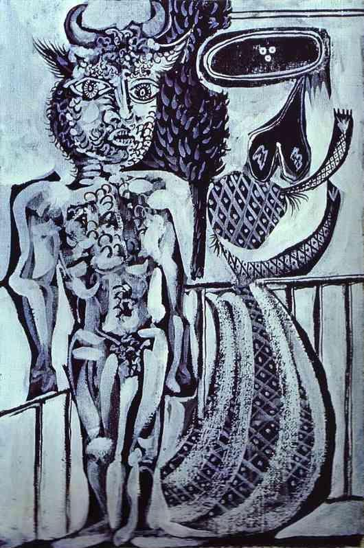 Pablo Picasso. Minotaur and His Wife.