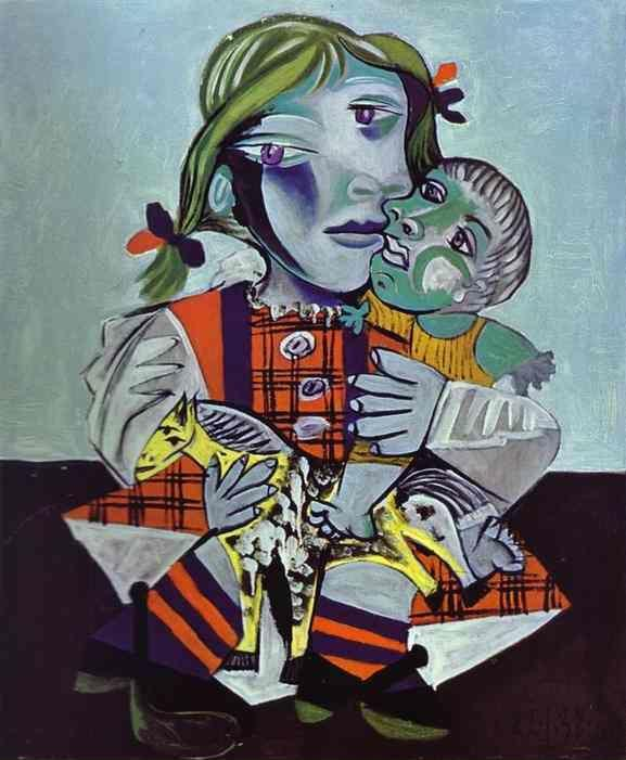 Pablo Picasso. Maya, Picasso's Daughter with  a Doll.