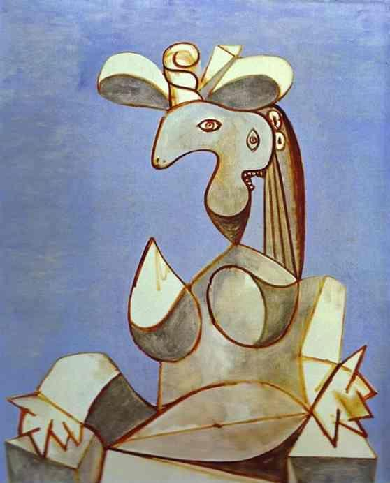 Pablo Picasso. Young Tormented Girl.