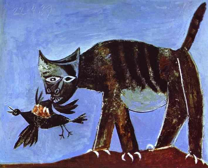 Pablo Picasso. Wounded Bird and Cat.
