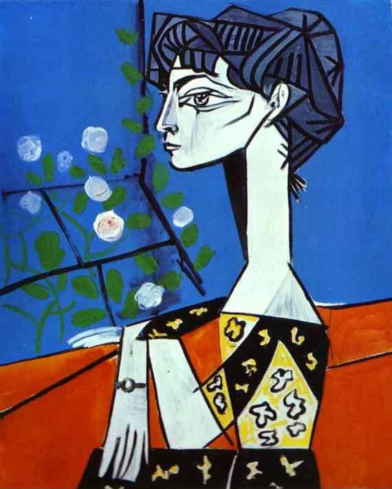 Pablo Picasso. Jacqueline with Flowers.