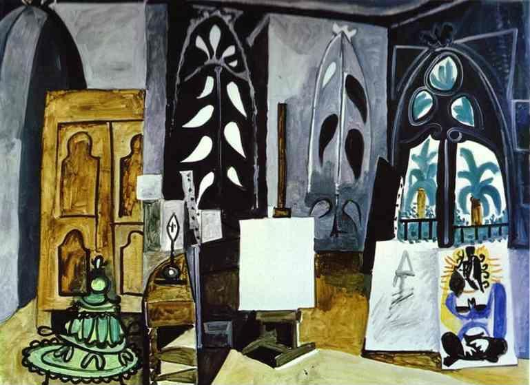 "Pablo Picasso. The Studio of ""La Californie""  at Cannes."
