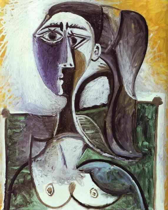 Pablo Picasso. Portrait of a Sitting Woman.