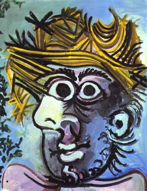 Pablo Picasso. Portrait of Man in a Hat.