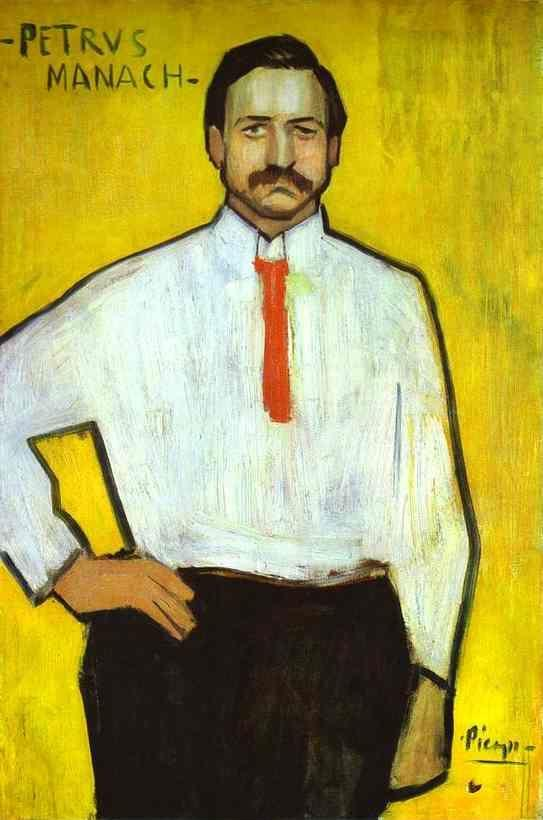 Pablo Picasso. Portrait of the Art Dealer  Pedro Manach.