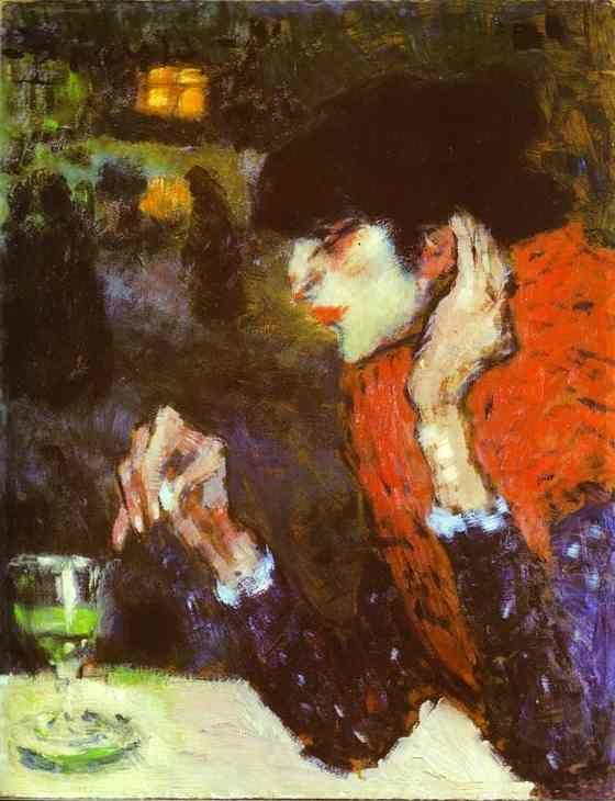 Pablo Picasso. The Absinthe Drinker.