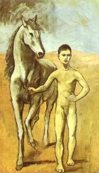 Pablo Picasso. Boy Leading a Horse.