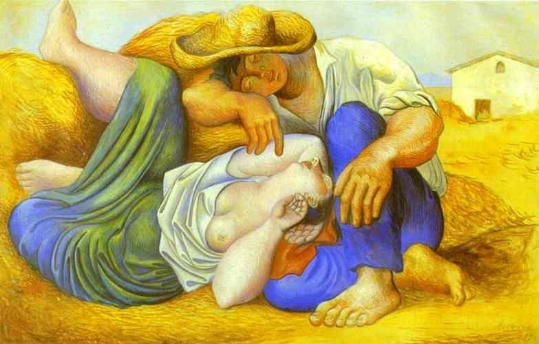 Pablo Picasso. Sleeping Peasants.