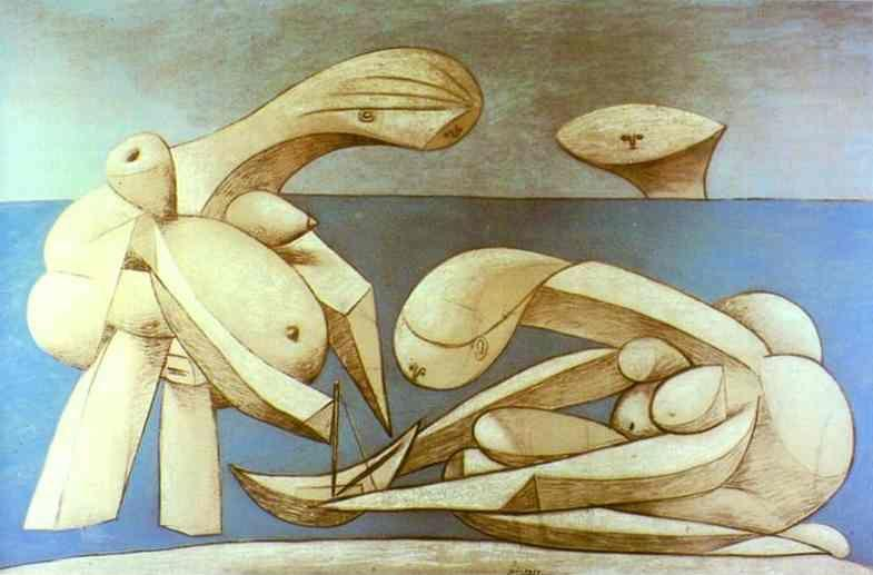 Pablo Picasso. Bathers with a Toy Boat.