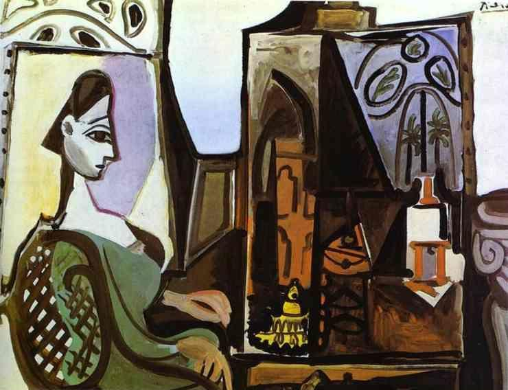 Pablo Picasso. Jacqueline in the Studio.