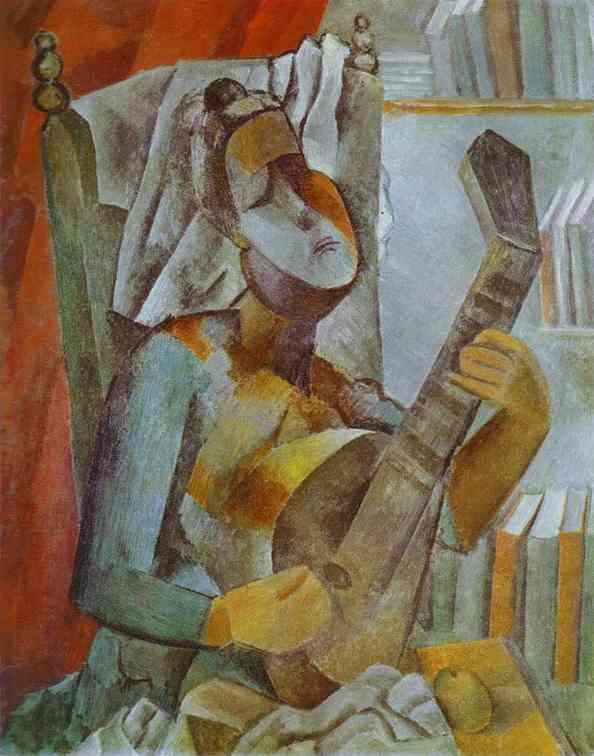 Pablo Picasso. Woman Playing the Mandolin.