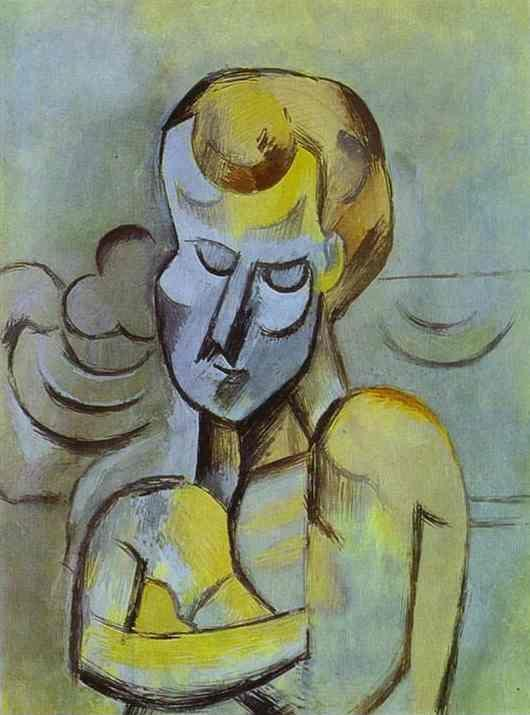 Pablo Picasso. Man with Arms Crossed.