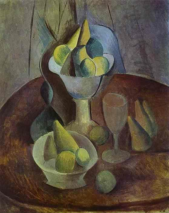 Pablo Picasso. Compotier, Fruit, and Glass.