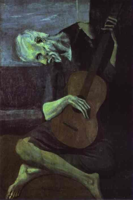 Pablo Picasso. The Old Guitarist.