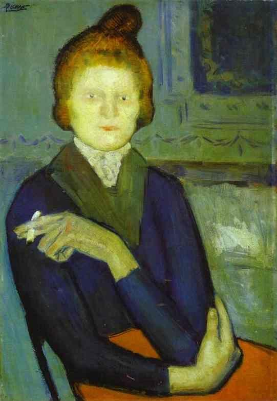 Pablo Picasso. Woman with a Cigarette.