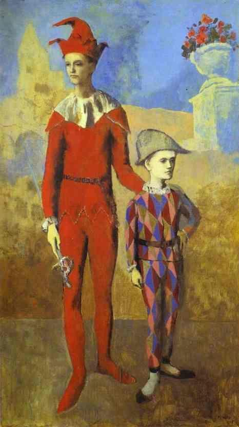 Pablo Picasso. Acrobat and Young Harlequin.