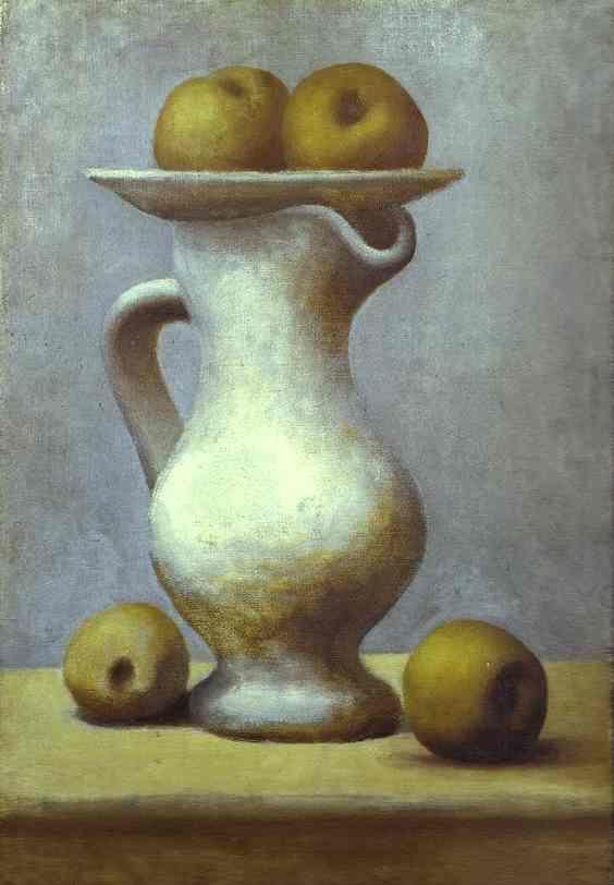 Pablo Picasso. Still-Life with a Pitcher  and Apples.