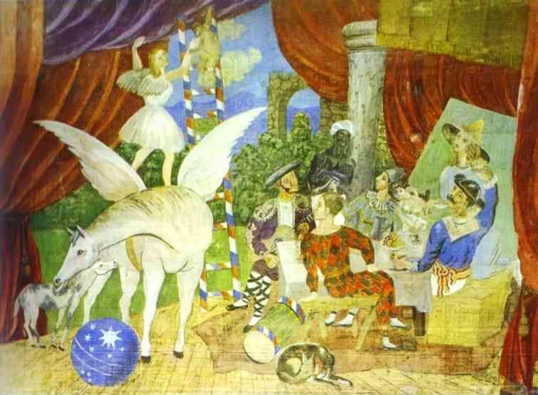 "Pablo Picasso. Sketch of Set for the ""Parade""."