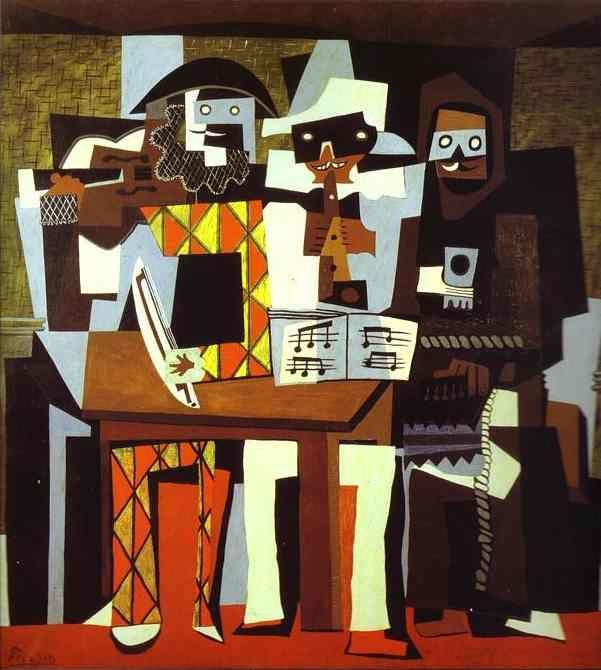 Pablo Picasso. Three Musicians, or Musicians  in Masks.