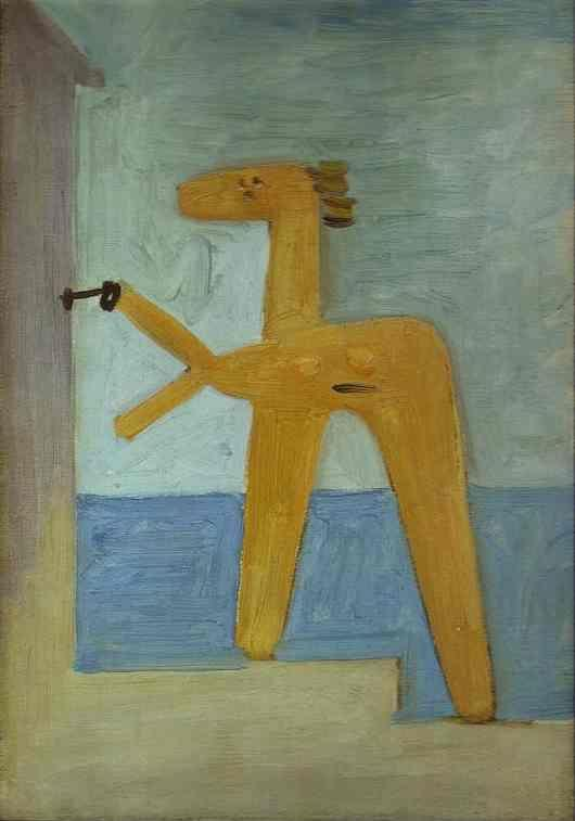Pablo Picasso. Bather Opening a Cabin.