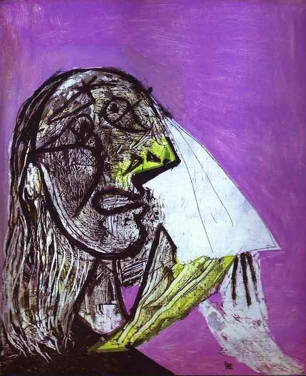 Pablo Picasso. A Woman in Tears.