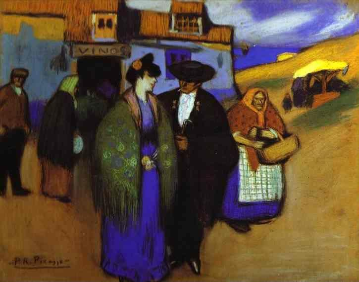 Pablo Picasso. A Spanish Couple in front of an Inn.