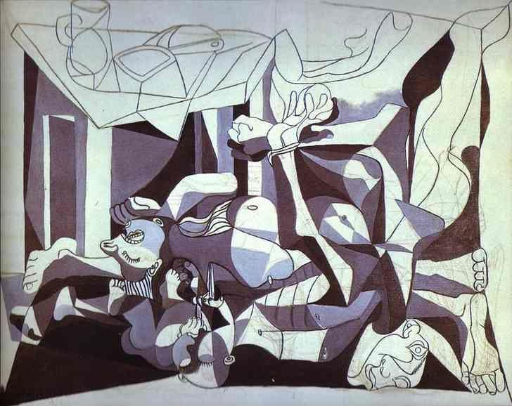 Pablo Picasso. The Charnel House.