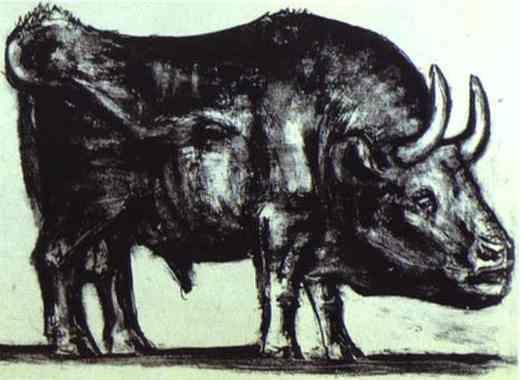 Pablo Picasso. The Bull. State II.