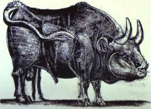 Pablo Picasso. The Bull. State III.